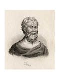 Zeno of Citium Giclee Print by J.W. Cook