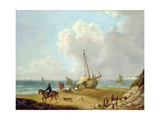 Fisherfolk Unloading their Catch in Freshwater Bay, Isle of Wight Giclee Print by George Morland