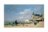 The Beach at Trouville, 1863 Giclee Print by Eugène Boudin