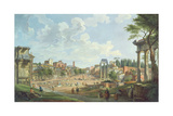 View of the Roman Forum, 1747 Giclee Print by Giovanni Paolo Panini