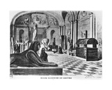 The Egyptian Rooms in the Louvre Museum, Engraved by Pegard (19th Century) 1851 Giclee Print by Dieudonne Auguste Lancelot