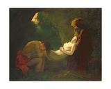 Les Funerailles D'Atala Giclée-tryk af Anne Louis Girodet de Roucy-Trioson