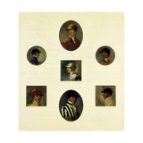 Studies of Jockeys, C.1830 Giclee Print by Abraham Cooper