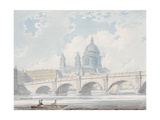 St Paul's Cathedral, 1793 Giclee Print by Edward Dayes