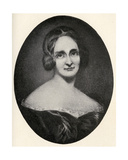 Mary Wollstonecraft Shelley (1797-1851) Illustration from 'Little Journeys to the Homes of Famous… Giclee Print by Richard Rothwell