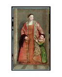 Portrait of Countess Livia Da Porto Thiene and Her Daughter, Portia, C.1551 Giclee Print by Paolo Veronese