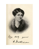 Harriet Martineau (1802-1876) Illustration from 'Little Journeys to the Homes of Famous Women',… Giclee Print by Margaret Gillies