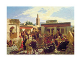 The Moroccan Storyteller, 1877 Giclee Print by Alfred Dehodencq