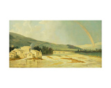 Otley Bridge on the River Wharfe Giclee Print by William Hodges