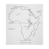 Sketch Map of Africa, from 'The Life of Captain Sir Richard Burton, Volume II' by Isabel Burton… Giclee Print by Richard Francis Burton
