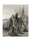 King Louis IX (1217-70) before Damietta, Illustration from 'Bibliotheque Des Croisades' by J-F.… Giclee Print by Gustave Doré