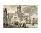 View of Old St. Paul's Cathedral Giclee Print by John Fulleylove