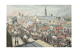 Drawing of Glasgow Fair, from 'The Glasgow Looking Glass', 1825 - Giclee Baskı