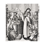 Toll on Markets, Levied by a Cleric, after a 15th Century Painted Window in the Cathedral of… Giclee Print