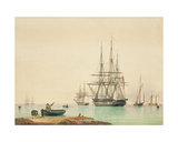 H.M.S. Vindictive Giclee Print by John Ward