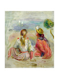 Young Girls on the Beach, C.1898 Giclee Print by Pierre-Auguste Renoir
