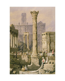 View of the Forum, Rome Giclee Print by Samuel Prout