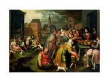 The Seven Acts of Mercy Giclee Print by Frans II the Younger Francken