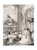 Bell and Cannon Master, Reproduction of a Woodcut by Jost Amman (1539-91) from 'Le Moyen Age Et… Giclee Print