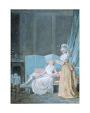 Reading the Letter Giclee Print by Jean Baptiste Mallet