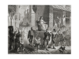 The Procession of the Goddess of Reason, 10th November 1793, from 'Histoire De La Revolution… Giclee Print by Henri Renaud