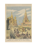 Celebration for the Coronation of Tsar Nicolas II (1894-1917) Arrival of the Cortege in Red… Giclee Print by Henri Meyer
