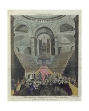 Interior of St. Paul's Cathedral During the Thanksgiving Service for the Recovery of King George… Giclee Print by T. Prattent