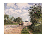 The Road to Nantes at Choisy Le Roy, 1874 Giclee Print by Alfred Sisley