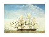 The Frigate Uss Essex Giclee Print by Joseph Howard