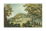 The South Front with East Front in Perspective, from the Red Book for Antony House, C.1812 Giclee Print by Humphry Repton