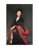 Portrait of Mrs Marie Clerc, 1874 Giclee Print by Charles Emile Auguste Carolus-Duran
