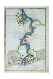 Ms W.658 Fol.304V Map of the Nile from the Kitab-I Bahriye Giclee Print by Piri Reis