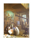Interior of an Artist's Studio, 1755 Giclee Print by Etienne Jeaurat