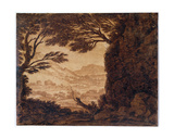Classical Landscape, Mid-18th Century Giclee Print by Alexander Cozens