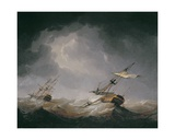 Dismasted Giclee Print by Charles Brooking
