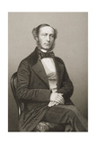 John Walter (1818-94) Engraved by D.J. Pound from a Photograph, from 'The Drawing-Room of Eminent… Giclee Print by John Jabez Edwin Paisley Mayall