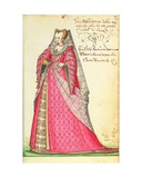 Ms W.477 Fol.20 'Noble Lady from Vincenza' from Kippell's 'Costume Book', C.1588 Giclee Print by Niclauss Kippell