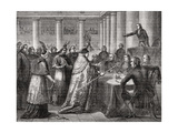Gobel Resigns His Episcopal Office, 1793, from 'Histoire De La Revolution Francaise' by Louis… Giclee Print by Henri Renaud