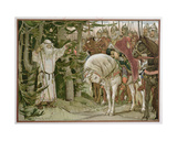 Prince Oleg (D.C.912) Meets the Soothsayer Who Prophesizes That His Horse Will Be the Cause of… Giclée-Druck von Victor Mikhailovich Vasnetsov