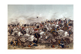 Battle of Balaclava. Brilliant Charge of the Scots Greys, 25th October 1854, Engraved by Augustus… Giclee Print by Augustus Butler
