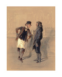 Car Man and Coal Heaver, 1848 Giclee Print by Paul Gavarni