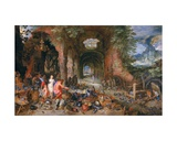 Venus in Vulcan's Forge Giclee Print by  Jan Brueghel and Hendrik van Balen