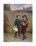 Beggars and a Monkey, 1893 Giclee Print by Augustus Edward Mulready