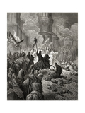 Entry of the Crusaders in Constantinople in 1204, Illustration from 'Bibliotheque Des Croisades'… Giclee Print by Gustave Doré