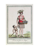 A Woman from Easter Island with Her Child, from 'Encyclopedie Des Voyages', Engraved by J.… Giclee Print by Jacques Grasset de Saint-Sauveur