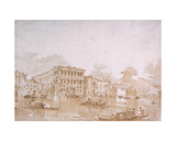 The Grand Canal with the Ca' Pesaro, Venice Giclee Print by Francesco Guardi