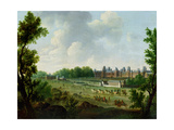 A View of the Royal Palace of Fontainebleau Giclee Print by Hendrik Frans De Cort