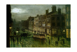 Briggate, Leeds, 1884 Giclee Print by Wilfred Jenkins