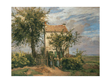 The Road to Rueil Giclee Print by Camille Pissarro