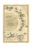 The Lesser Antilles or the Windward Islands, with the Eastern Part of the Leeward Islands, from… Giclee Print by Charles Marie Rigobert Bonne